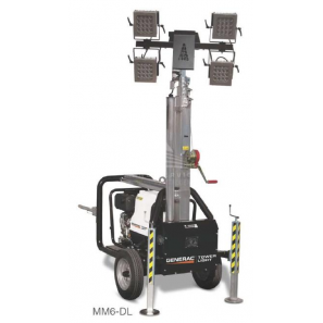 GENERAC MM6-DL LED Lighting Tower with Hand Trolley