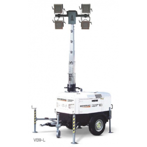 GENERAC VB9-L LED Lighting Tower with Highway Trailer