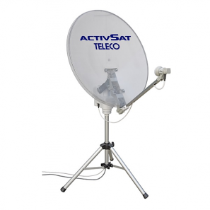 TELECO TELAIR ACTIVSAT 65 TWIN Antenna satellitare portatile automatica LNB TWIN