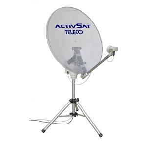 TELECO TELAIR ACTIVSAT 85 TWIN Antenna satellitare portatile automatica LNB TWIN