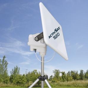 TELECO TELAIR ACTIVSAT 53SQ Satellite antenna portable square automatic LNB single