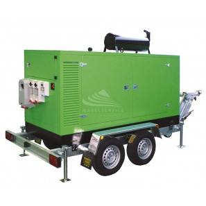 ENERGY SLOW TOWING TROLLEY WITH WHEELS AND DRAWBAR FOR MODELS FROM 5 KVA TO 15 KVA