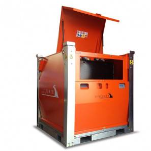 LUXTOWER CUBE TANK 1 - Serbatoio impilabile da 978 Litri - Vista laterale
