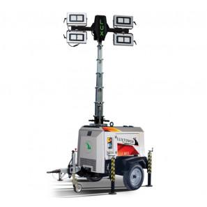 LUXTOWER LUX H11 TORRE FARO CON CARRELLO STRADALE OMOLOGABILE 4 X FARI LED 300W