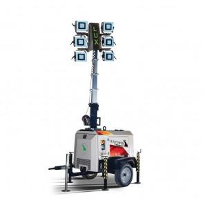 LUXTOWER LUX M12 Torre Faro LED 9 Metri con Generatore 3.5 kVA