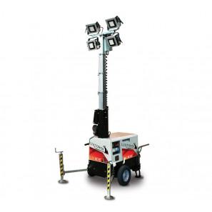 LUXTOWER LUX M14C Torre Faro LED 5.5 Metri Generatore 4.2 KVA CON SENSORE CREPUSCOLARE