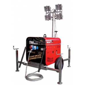 TECNOGEN LD5000ESX-TF Halogen Lighting Tower with 4.6 kVA Genset