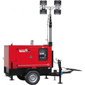 TECNOGEN PK23T-4SX-TF Halogen Lighting Tower with 22 kVA Genset