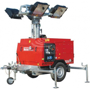 TECNOGEN HTPK10-4 Metal Halide Lighting Tower Highway Trailer